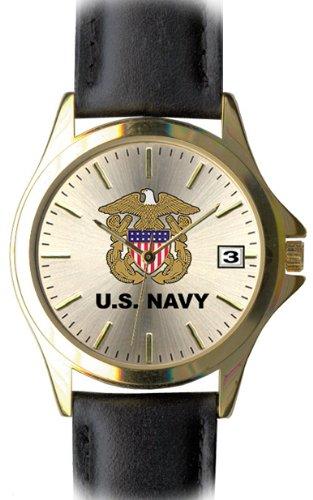 us-navy-laiton-et-cuir-frontier-montre-pour-homme-etanche-30-m