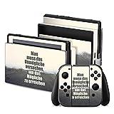 Nintendo Switch Folie Skin Sticker aus Vinyl-Folie Aufkleber Träume Weg Spruch