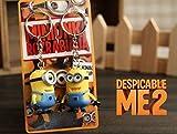 Despicable Me Minions Bob Stuart Figure Keychain - 2 PCS SET