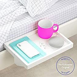 BedShelfie The Original Étagère de Chevet 3 Couleurs - 2 Tailles - comme vu sur Business Insider (Original de Taille, Bambou en Blanc)