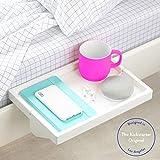 BedShelfie The Original Bedside Shelf - 3 Colores / 2 tamaños - como SE VE EN Business Insider (tamaño...
