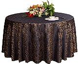 Hochzeiten Bankette Hotels Tischtennis Zubehör Runde Tischdecken 220 * 220CM (Dunkelblau)