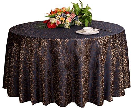 Black Temptation Hochzeiten Bankette Hotels Tischtennis Zubehör Runde Tischdecken 220 * 220CM (Dunkelblau)