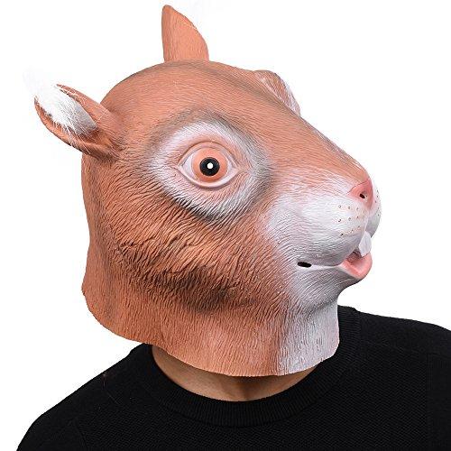 Party Story Halloween Maske latex eichhörnchen Tiermaske Kostüm (Halloween Kostüm Eichhörnchen)