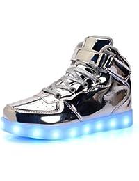 LED Sportschuhe für Herren Damen USB Aufladen 7 Lichtfarbe