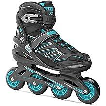 Roces ZYX W patines en linea, mujer, Zyx W, Nero/Azzurro