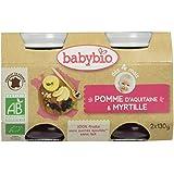 Babybio Pots Pomme d'Aquitaine Myrtille 260 g - Lot de 6