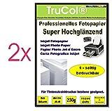 100 Blatt Fotopapier DIN A4 , 230g/qm , high -glossy (hoch-glänzend) -sofort trocken -wasserfest-hochweiß-sehr hohe Fa