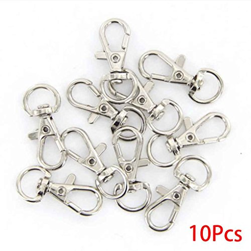 Chain Clips 10PCS Rotary trigger Snap Key Ring Clasps Claw Hooks Hooks Dog Leash Buckle Bag DIY Craft