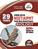 29 Years NEET AIPMT Topic wise Solved Papers BIOLOGY 1988 to 2016