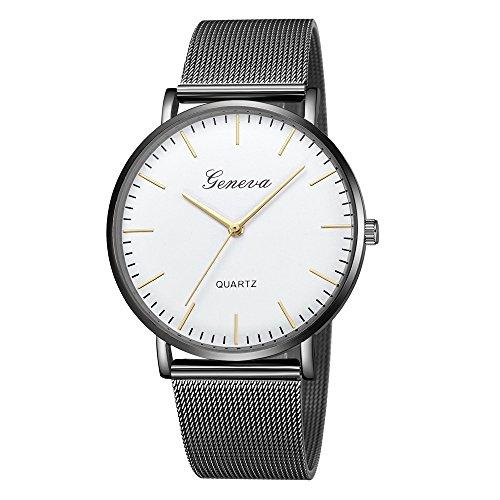 Bestow Relojes de Pulsera de Pulsera de Acero Inoxidable de Cuarzo para Mujer Ginebra Clš¢Sica