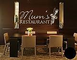 Klebefieber Wandtattoo Mums Restaurant B x H: 100cm x 44cm Farbe: Schwarz