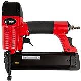 STIER Druckluftnagler SKN-15/50 | für Stauchkopfnägel 15-50 mm | incl. Handwerker-Koffer | zur Verarbeitung von Leisten, Paneelen |