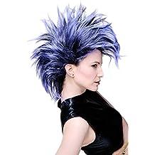 WIG ME UP ® - PW0078-1-P103PC10 Peluca Carnaval Punky en negro-