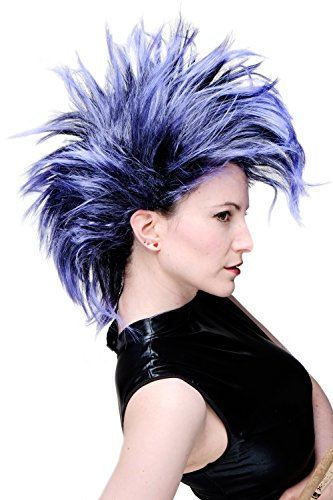 Blue Mohawk Punk Wig for Adults - highly rated by customers