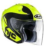 HJC 144004M Casco Moto, Giallo, M