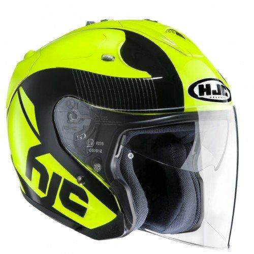 HJC 144004XL Casco Moto, Giallo, XL