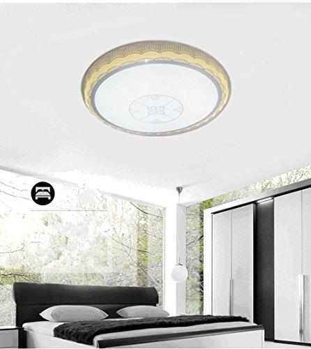 YIZHANGModernen Kreatives und einzigartiges Design Kronleuchter Wohnzimmer Hotel Büro Zimmer Dreifarbiges Dimmen Led Eisen Acryl 48 * 15cm -