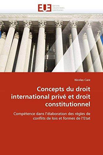 Concepts du droit international privé et droit constitutionnel