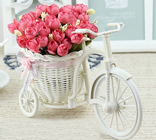 TiedRibbons® Cycle shape Decoration Flower Vase for living Room with Peonies Bunches