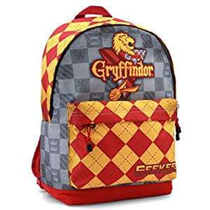 51rEs6CiQTL. SS300  - KARACTERMANIA Harry Potter Quidditch Gryffindor Mochila tipo casual, 44 cm, 23 litros, Rojo