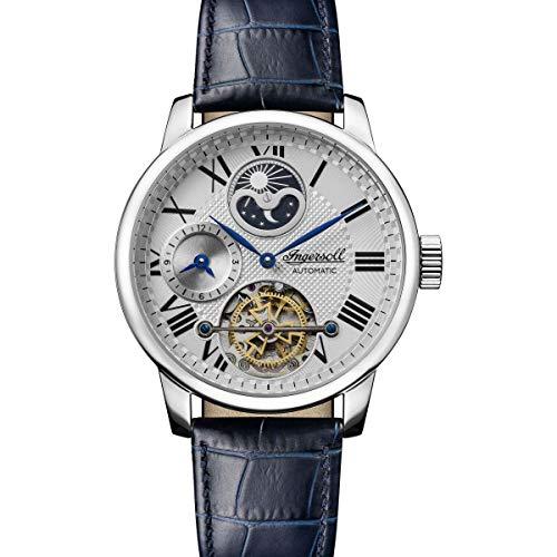 Ingersoll The Riff Reloj para Hombre Analógico de Automático con Brazalete de Piel de Vaca I07401