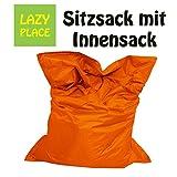 XXL Sitzsack Outdoor und Indoor, Lazy Place, abwaschbar, wasserfest, mit Innensack (orange)