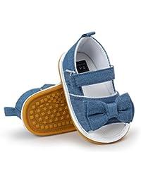 Zapatos de niños, Calzados/Zapatillas/Sandalias de niños Zapatos de bebé niña Verano Soft Sole Cotton Cotton Bowknot Sandals