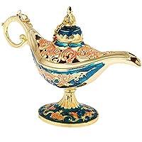 Taisuko Lámpara de Aceite de Flores con antorcha mágica, lámpara de Aladdin Genie, Caja