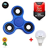 #7: Toonflx fidget spinner with long spin time and strong grip including stainless steel bearing for smooth rotation. (BLUE)