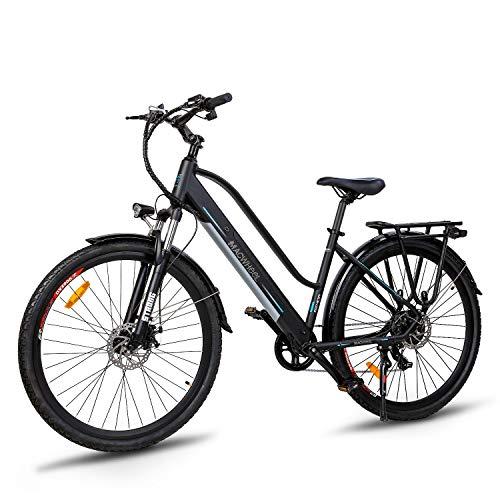 """Macwheel Cruiser-550 Vélo Electrique VAE, 28""""E-Bike de Randonnée, Pack de Batterie Lithium-ION Amovible de 36 V/10 Ah, Suspension Avant, Double Système de Freinage, pour Adulte Unisexe"""