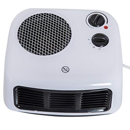 Homcom Heizlüfter Heizgerät Elektroheizer Heizer Heizung Wärme 1000W/2000W Weiß L26 x B24 x H12...