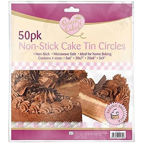 100antiadherente para tartas Círculos/2paquetes de 50