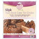 100 Non Stick Cake Tin Circles/2 Packs of 50