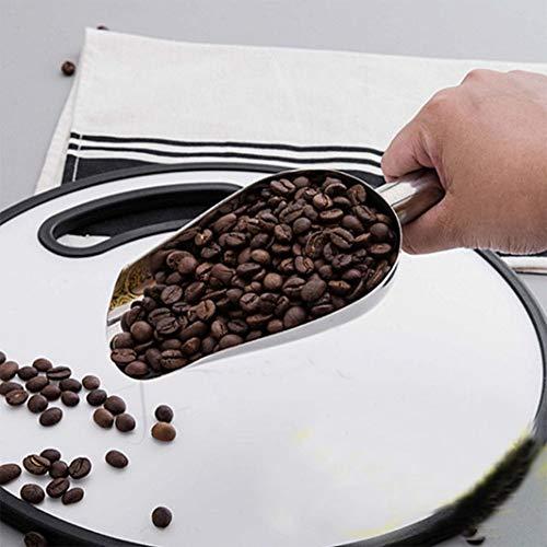 X-DAAO Funktionale Edelstahl-Schaufel Eisschaufel für Küche Bar Zucker Mehl Buffet Trockenfutter, 20,3 cm