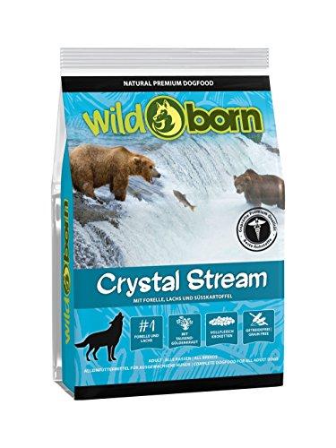 WILDBORN Hundefutter CRYSTAL STREAM 15kg getreidefrei für erwachsene Hunde mit Forelle & Lachs