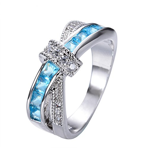 Loveso Damen Modeschmuck Damenring Kristall Strass Ring Trachtenschmuck 1718