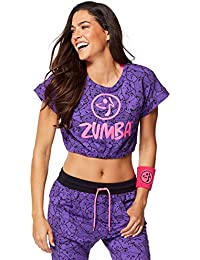 Zumba Fitness Be Bold Bubble Crop – T-Shirt sans Manches ... 92cd7e68653