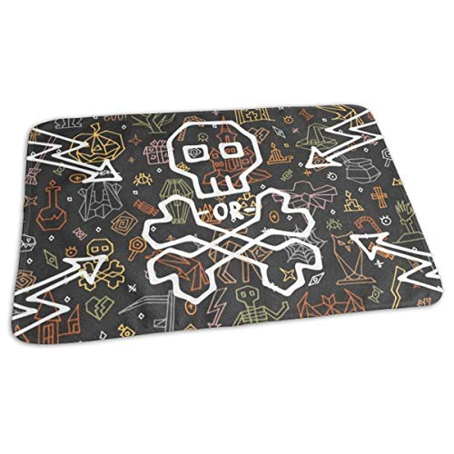 Voxpkrs Changing Pad Happy Halloween with Doodle Baby Diaper Urine Pad Mat Unique Girls Bed Wetting Pads Sheet for Any Places for Home Travel Bed Play Stroller Crib Car (Gesunde Kleinkinder Halloween Für)