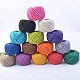 #9: Ocamo 50M Eco-Friendly Colourful Hemp Rope Handcraft DIY Material