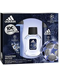 adidas Duftset UEFA League Champions Edition Eau de Toilette 50 ml + Deospray 150 ml + Showergel 250 ml + Voucher, 450 ml