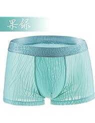 ZHFC-le pantalon de soie transparente sous - vêtements hommes dentelle shorts sexy