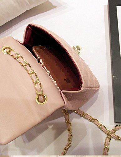 Frauen-Weinlese-Luxuxdruck-Frauen-Handtaschen-Abend-Beutel Reines Handperlen-Blumenkettenpaket Pink