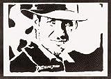 Póster Indiana Jones Grafiti Hecho A Mano - Handmade Street...