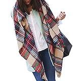 Elite99 Women Neck Tartan Pashmina Scarf Oversized Blanket Cashmere Winter
