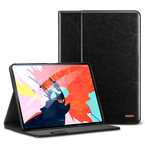 """Preisvergleich Produktbild ESR Hülle für iPad Pro 11"""" PU Leder Case Automatische Ruhe- / Aufwachfunktion Kunstleder Schutzhülle mit Pencilhalterung für iPad Pro 11 Zoll (Pencil Laden inkompatibel) - Schwarz"""