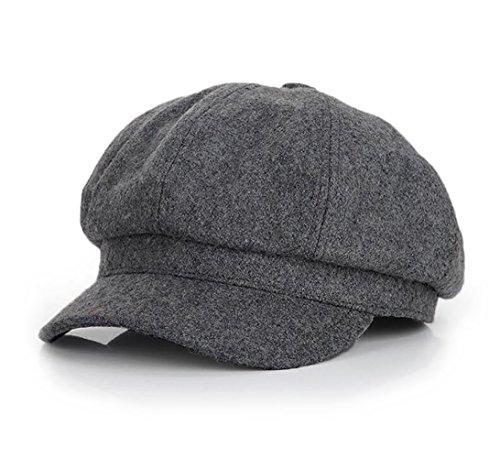 LAI MENG Cappello Berretto Donna Uomo in Sintetico Lana per- Unisex, Cotone, Nero, grigio scuro, grigio chiaro