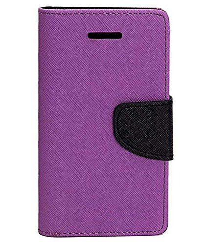 Evoque Mercury Flip Cover For Samsung Galaxy S5 G900 - Purple  available at amazon for Rs.299