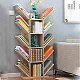 BSNOWF Bücherregal Massivholz Baum Form Schlafzimmer Schlafzimmer Studie Wohnzimmer ( Farbe : Light walnut , größe : L )