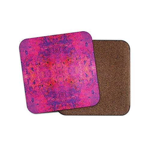 #12347 Untersetzer mit violettem persischem Teppich - Ethnischer indischer Spiegel Krawattenstanze, Vintage-Geschenk -